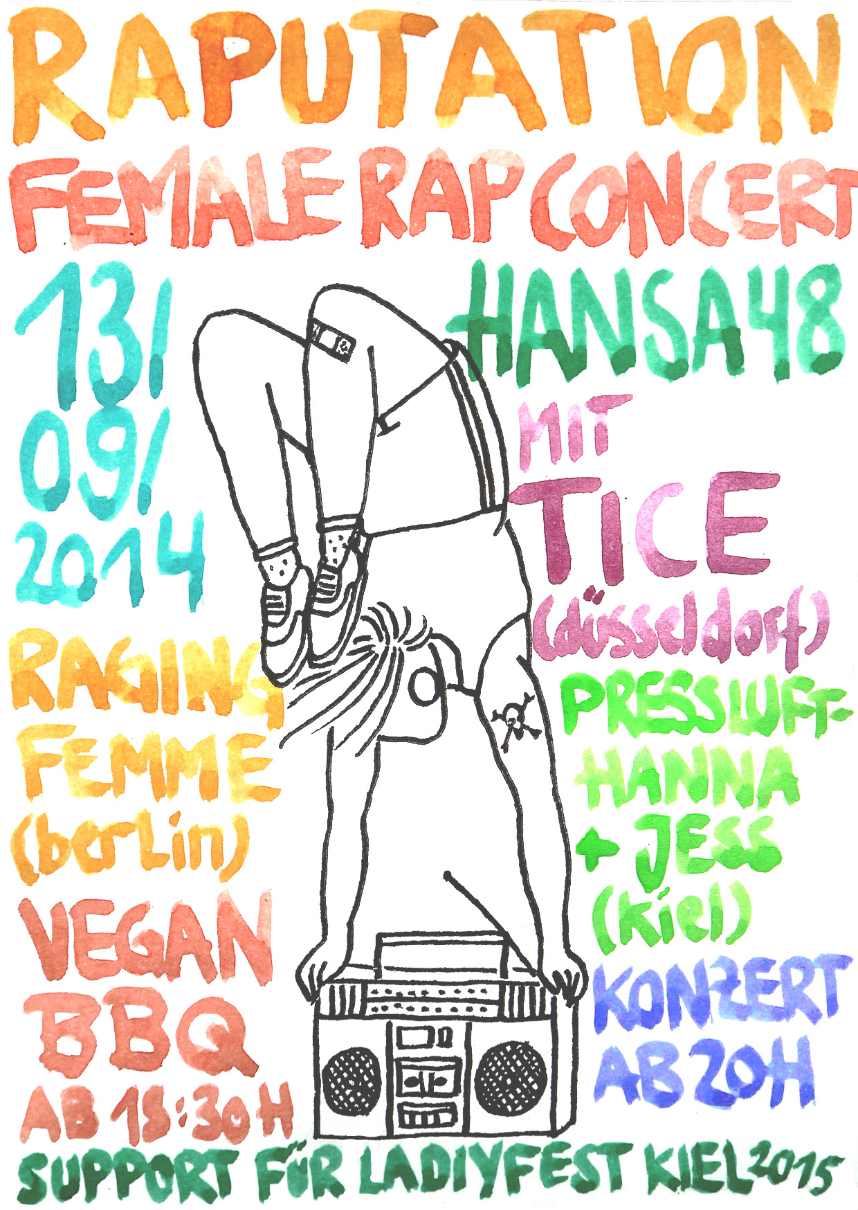 female rap concert am 13/09.